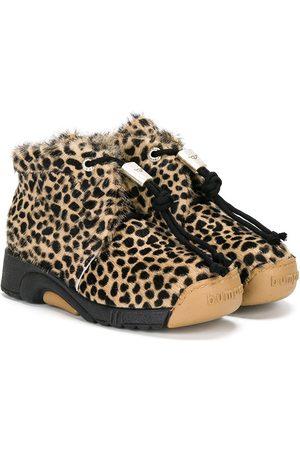 Bumper Stiefeletten mit Leoparden-Print