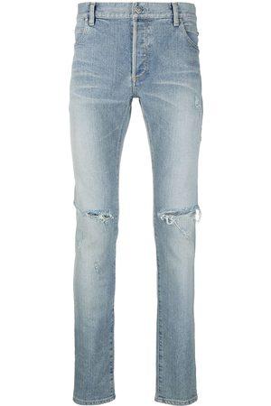 Balmain Schmale Distressed-Jeans