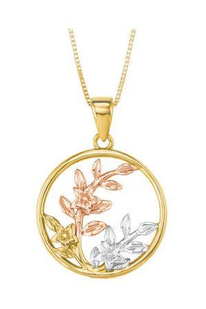 Amor Damen Halsketten - Kette mit Anhänger, Tricolor