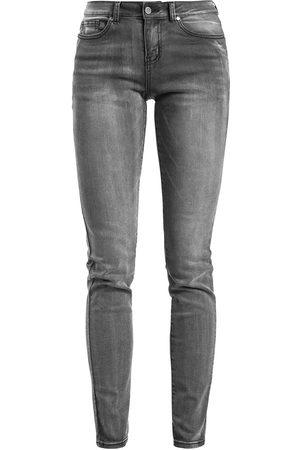 RED by EMP Damen Cropped - Skarlett in grau mit Waschung Jeans