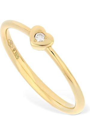 VANZI 18kt & Diamond Heart Ring