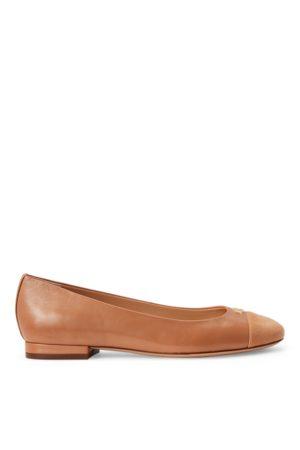 Lauren by Ralph Lauren Gaines Nappa Leather Flat