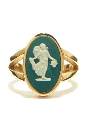 Ferian Dancing Hours Wedgwood Cameo & Signet Ring