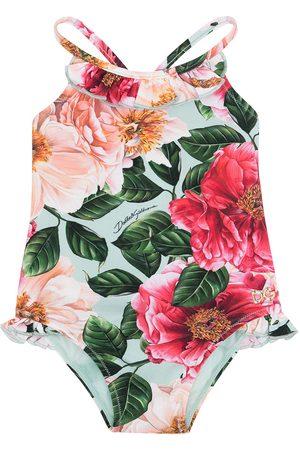 Dolce & Gabbana Badeanzug mit Blumen-Print