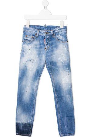 Dsquared2 Kids Distressed-Jeans mit Farbklecksen