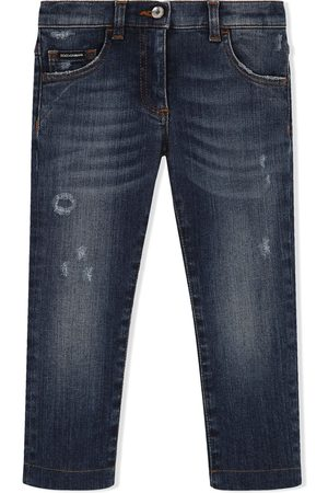 Dolce & Gabbana Kids Schmale Distressed-Jeans