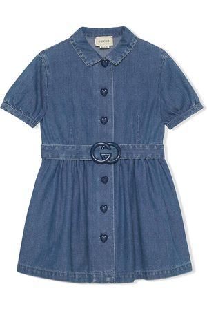Gucci Kurzes Jeanskleid mit GG