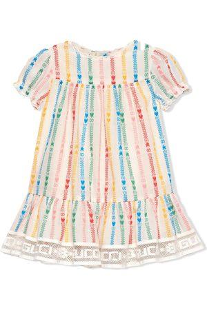 Gucci Kurzärmeliges Kleid mit GG