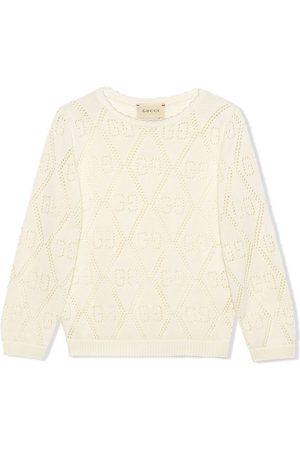 Gucci Sweatshirt mit GG-Lochmuster