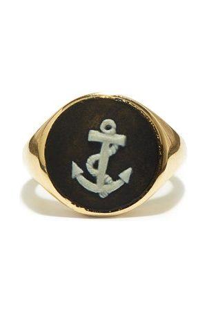 Ferian Damen Ringe - Anchor Wedgwood Cameo & 9kt Signet Ring