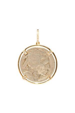 Rosa De La Cruz Diamond & 18kt Antique-coin Pendant