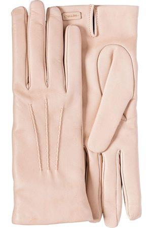 Prada Damen Handschuhe - Lederhandschuhe mit Logo