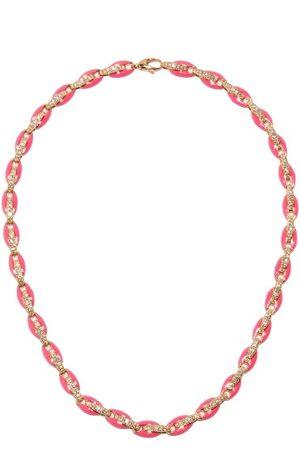 Melissa Kaye Ada Diamond, Enamel & 18kt Rose- Necklace