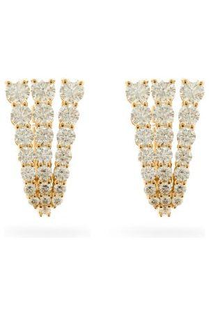 Melissa Kaye Aria Fan Diamond & 18kt Earrings
