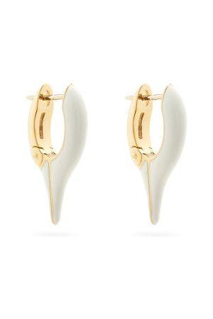 Melissa Kaye Lola Enamel & 18kt Needle Earrings