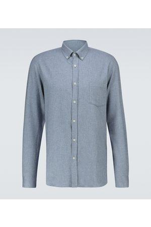Sunspel Herren Lange Ärmel - Langarmhemd aus Baumwolle