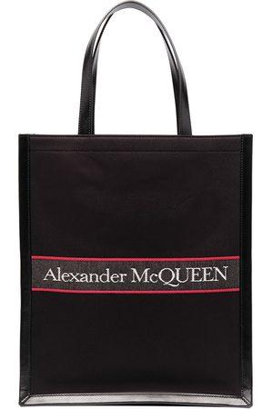 Alexander McQueen Herren Handtaschen - Shopper mit Logo-Stickerei