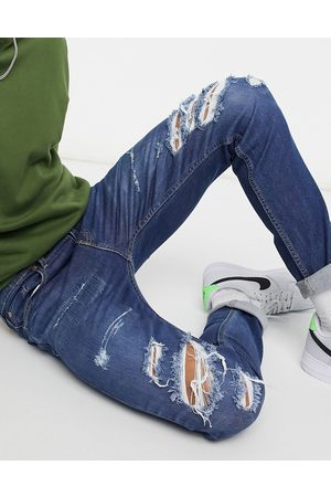 Levi's Levi's Youth 512 – Lo-Ball – Schmal zulaufende Jeans im Used-Look in dunkler Myers-Dust-Advanced-Waschung
