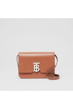 Burberry Kleine TB Bag aus Leder, Brown