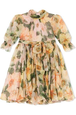 Dolce & Gabbana Kids Kleid mit Blumen-Print