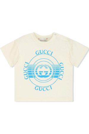 Gucci T-Shirt mit Gucci Schallplatten-Print