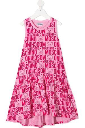 Moschino Mädchen Freizeitkleider - Midikleid mit Logo-Print