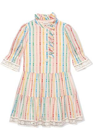 Gucci Kleid mit aufgestickten Streifen