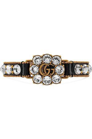 Gucci Kristallverziertes Armband mit GG