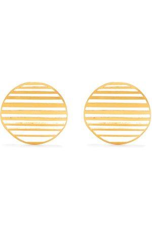 HSU JEWELLERY LONDON Große Ohrringe mit gewellter Kreisform