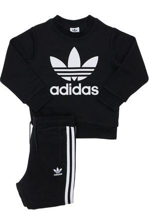 adidas Sweatshirt Und Trainingshose Aus Baumwollmischung