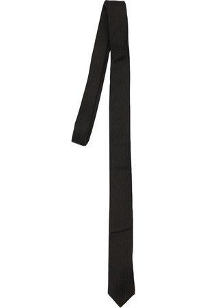 Saint Laurent Breite Krawatte Aus Seide Mit Ysl-monogramm