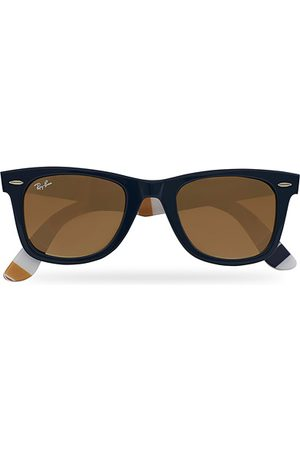 Ray-Ban RB2140 Wayfarer Sunglasses Dark Blue/Brown