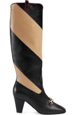 Gucci Hoher 'Zumi' Stiefel mit Streifen