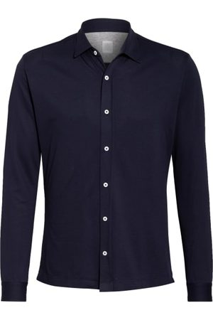 ELEVENTY Piqué-Hemd Slim Fit blau