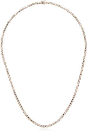 777 Herren Halsketten - 18kt Weißgoldhalskette mit Diamanten
