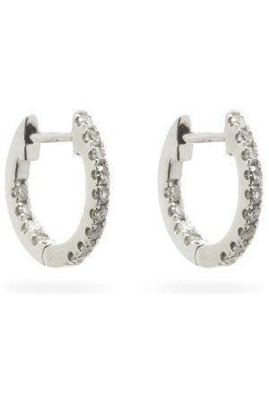Rosa De La Cruz Diamond & 18kt White Hoop Earrings