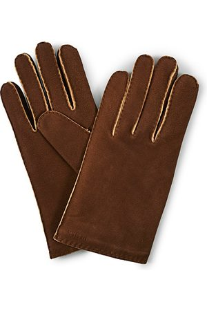 Hestra Herren Handschuhe - Philippe Chamoise Wool Lined Glove Brown