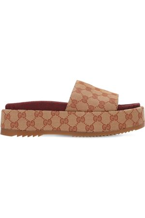 """Gucci 60 Mm Hohe Wedges Aus Gg-canvas """"angelina"""""""