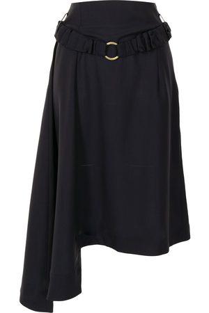 EUDON CHOI Damen Röcke - Asymmetrischer Rock mit Gürtel