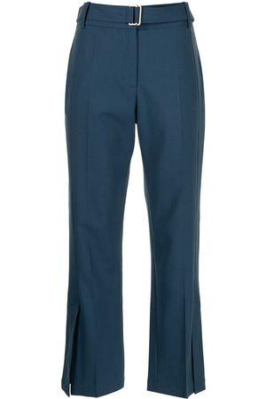 EUDON CHOI Damen Capris - Cropped-Hose mit Gürtel