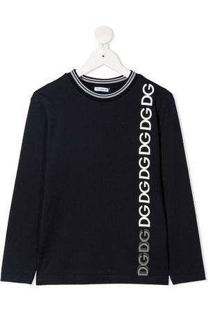 Dolce & Gabbana Kids Langarmshirt mit Logo-Print