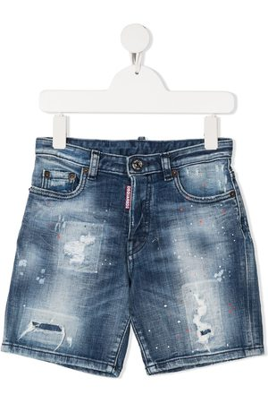 Dsquared2 Jungen Cropped - Jeans-Shorts im Distressed-Look