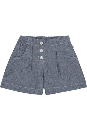 Il gufo Shorts aus Leinen