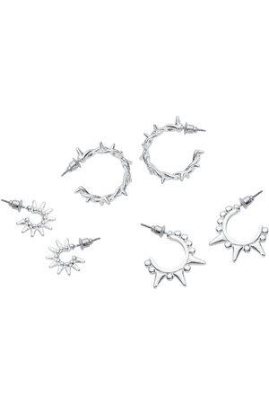 Rock Rebel Damen Ohrringe - Thorns Ohrhänger silberfarben