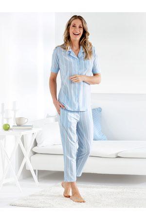 Avena Damen Schlafanzüge - Damen Klimasoft-Schlafanzug Pastellstr.