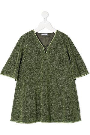 Oseree Ausgestelltes Kleid im Glitter-Look