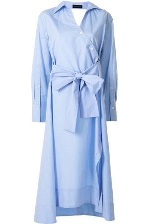 EUDON CHOI Damen Freizeitkleider - Hemdkleid mit Bindegürtel