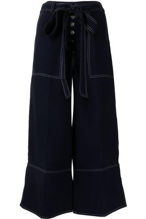 EUDON CHOI Cropped-Hose mit weitem Bein