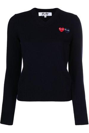 Comme des Garçons Damen Strickpullover - Pullover mit Herzmotiv