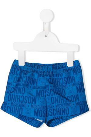 Moschino Kids Teddy' Badeshorts mit Logo-Print